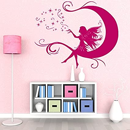 Amazon.com: Moon Fairy Wall Decal by Style & Apply - Wall Decal For ...