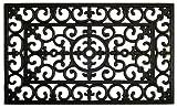 Home & More 900091830 Fleur De Lis Rubber Doormat, 18