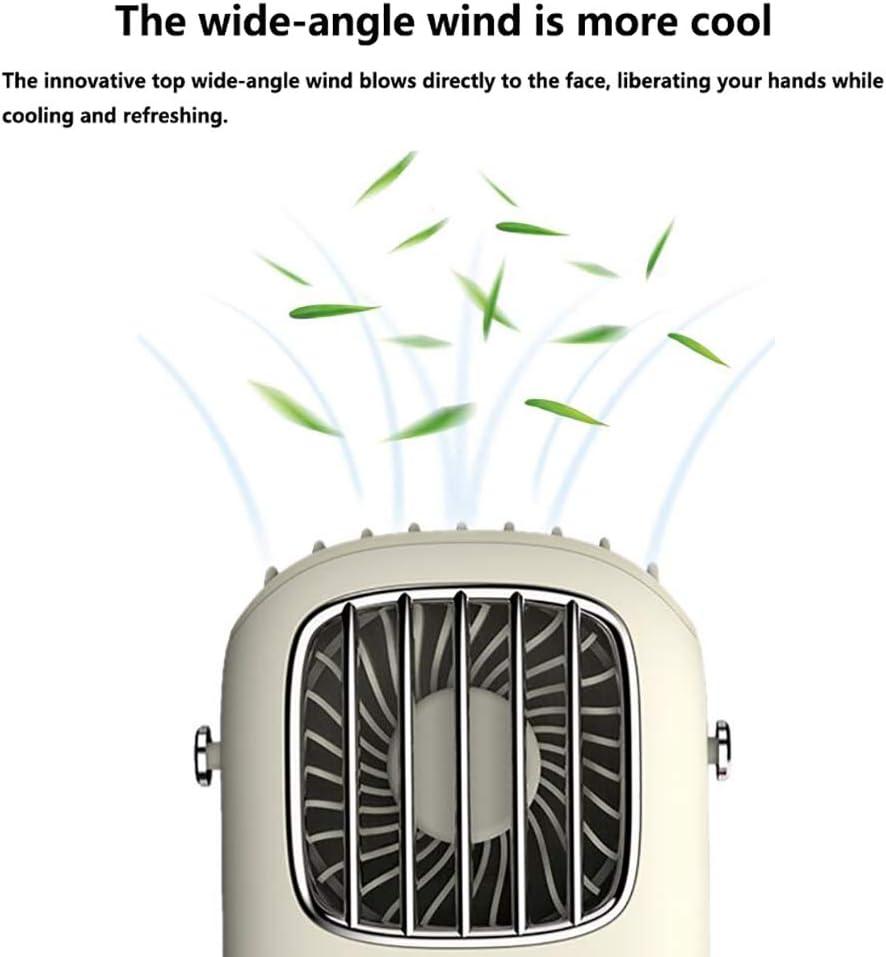 MARXIAO Ventilatore Portatile Grandangolare con Soffiaggio del Vento, Dispositivo di Raffreddamento Portatile con Ricarica USB Nuovo Ventilatore A Collo Pigro Appeso,A B