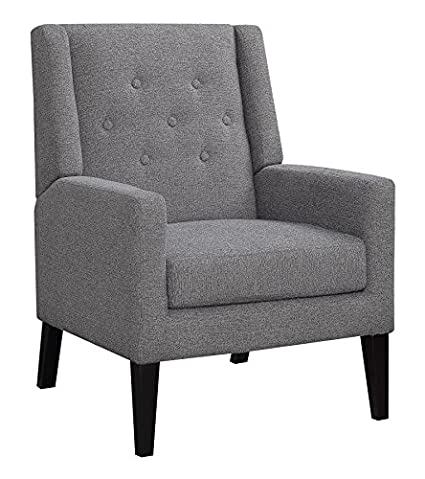 Stupendous Amazon Com Scott Living Demi Wings Accent Chair Grey And Andrewgaddart Wooden Chair Designs For Living Room Andrewgaddartcom
