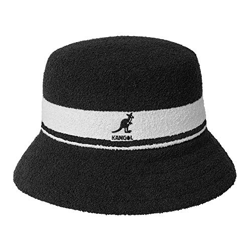 - Kangol Unisex Bermuda Stripe Bucket Black LG (7 1/4-7 3/8)