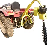 "Titan 30HP HD Steel Fence Posthole Digger w/9"" Auger 3 Point Tractor Attachment"