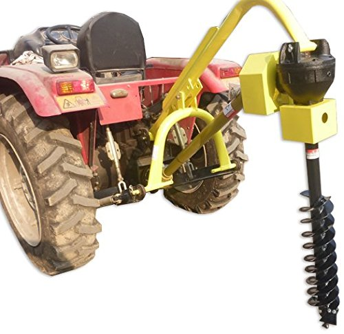 Titan 30HP HD Steel Fence Posthole Digger w/9'' Auger 3 Point Tractor Attachment by Titan Attachments