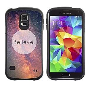 Suave TPU GEL Carcasa Funda Silicona Blando Estuche Caso de protección (para) Samsung Galaxy S5 / CECELL Phone case / / Motivational Sky God Aliens /