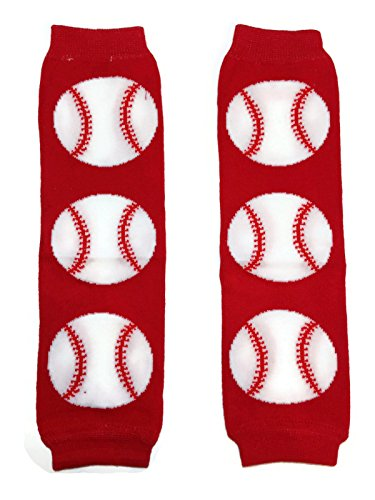 Baseball Halloween Costume For Baby (KWC - Sports Baby Leg Warmer/ Leggings (One Size, Red)