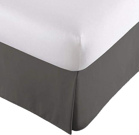 "Twin 14"" Drop Dust Ruffle Steel Blue Hotel Luxury Pleated Tailored Bed Skirt"