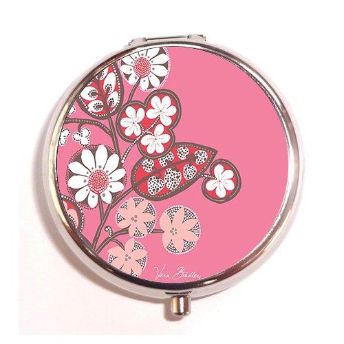 Lovefive Blush Pink Vera Bradley Custom Fashion Silver Round Pill Case Drug Organizer Holder Pocket Or Wallet Organizer Case