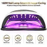UV LED Nail Lamp, iBealous 168W Professional Fast