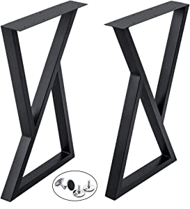 Life Edge Sofa Bar Table Metal Tube Legs - Triangle Frame 28H18W - w/Adjustable Leveling Feet - Set of 2 - DIY Your Live Edge Console, Sofa & Entryway Tables and Home Bar Table