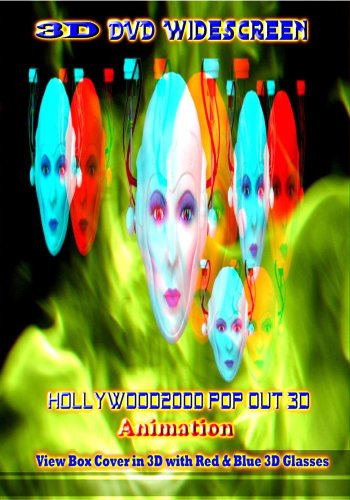 Hollywood2000 3D Pop Out Animation For Anaglyph Red & Blue 3D Glasses ()