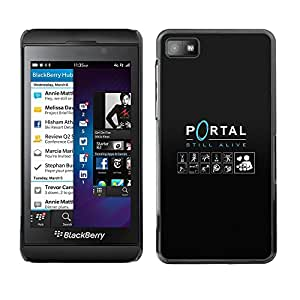 LECELL--Funda protectora / Cubierta / Piel For Blackberry Z10 -- Portal --