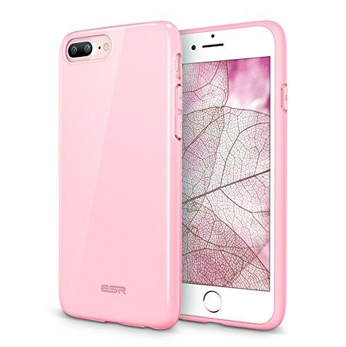 - iPhone 8 Plus Case, iPhone 7 Plus Case, ESR Flexible Soft Silicone Gel TPU Rubber Case [Slim Fit] [Anti-Scratch] for Apple iPhone 8 Plus(2017)/iPhone 7 Plus (2016)(Pink)