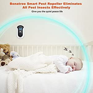 Pest Repellent, Ultrasonic Electromagnetic Pest Repeller Smart Bug Repellent Plug In Home Indoor Outdoor Electronic Control Reject Mosquito,Squirrel,Mice,Insect,Flea,Wasp,Roach,Baby&Pet Safe[2018 New]