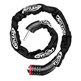 AUTLEAD Bike Lock, 5-Digit Resettable Combination Bike Chain Lock, 3ft Heavy Duty Hardened Steel Anti-Theft Bicycle Cable Locks for Bicycle, Motorcycle, Door, Gate, Fence, Grill(AL03A)