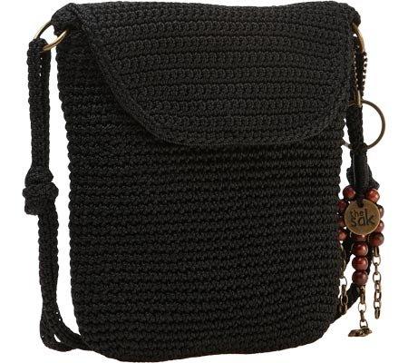 The SAK Kearney Mini Flap Cross Body Bag,Black,One Size
