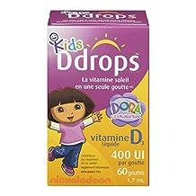 Ddrops Kids 400IU Liquid Vitamin D3 Drop, 1.7ml