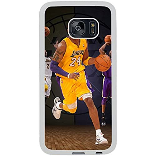 Samsung Galaxy S7 Edge Kobe Bryant Los Angeles 24 White Shell Case,Newest Design Sales