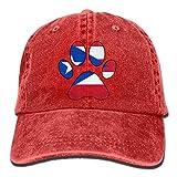 2018 Adult Fashion Cotton Denim Baseball Cap Puerto Rico Flag Dog Paw Classic Dad Hat Adjustable Plain Cap