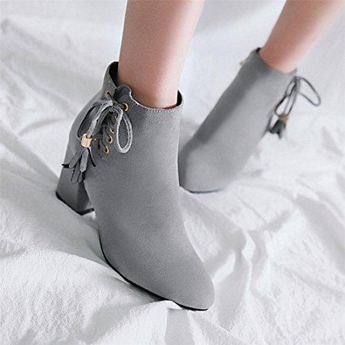 donna autunnale da gray e alti stivali stivali tacchi Moda donna da 6BFzqz