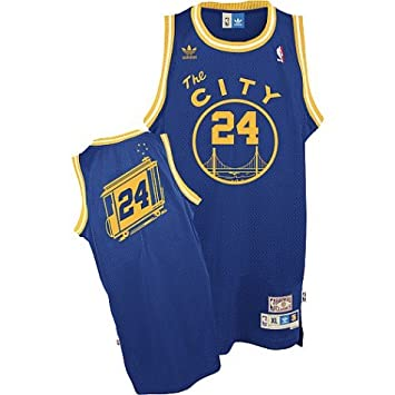 7385675e Adidas Rick Barry Jersey Blue Throwback Swingman #24 Golden State Warriors  Jersey: Amazon.co.uk: Sports & Outdoors