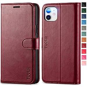 TUCCH Etui iPhone 11, Coque [RFID Blocage] Portefeuille iPhone 11, Housse TPU Fentes pour Cartes Fermeture Aimantée…