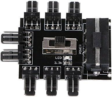 Kofun PC IDE Molex 1hasta 8enchufes Divisor Ventilador de HUB de 3Pin 12V Enchufe de adaptador de PCB 8Puerto Fan HUB Tarjeta 4PIN Fuente