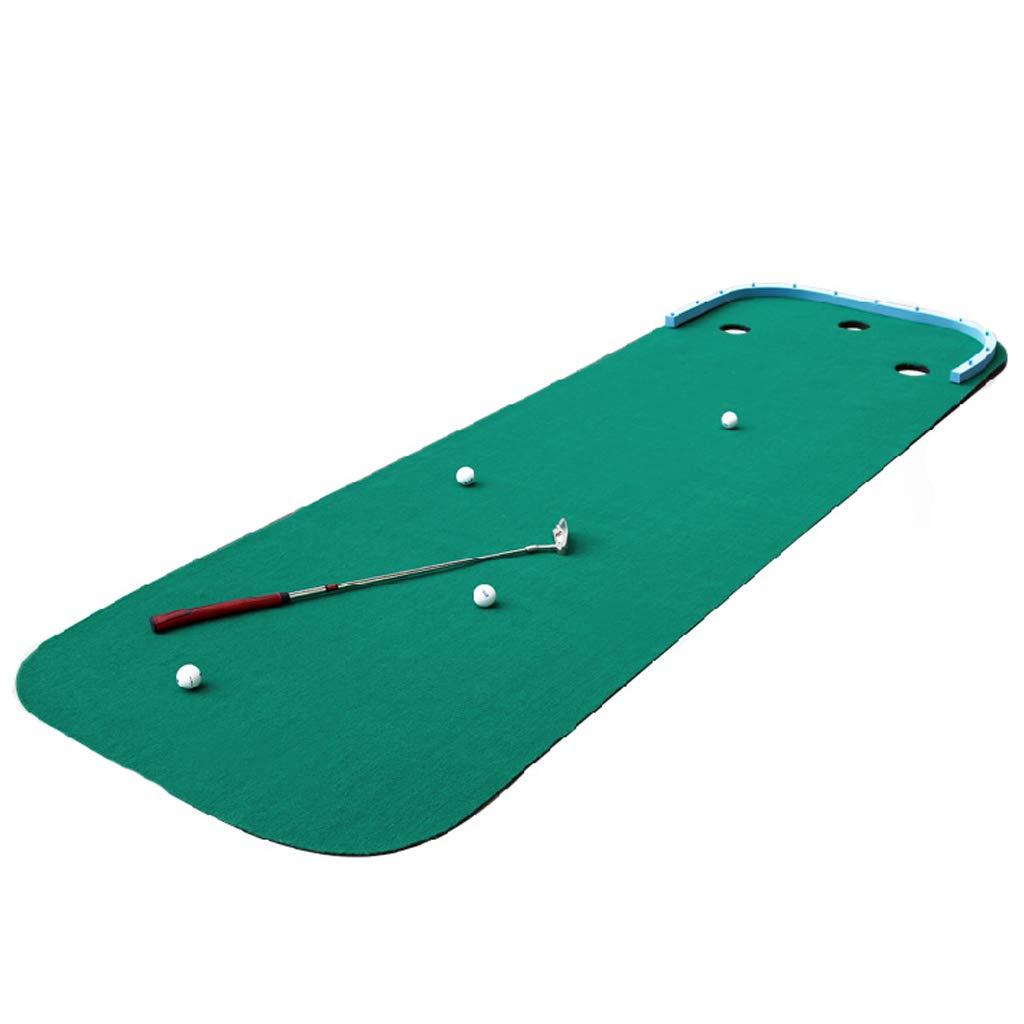 ゴルフマット、シミュレートされたスロープトレーナー、着脱可能なリム、初心者に適して、屋内と屋外 B07H3THS43 Brushed