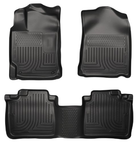 Husky Liners Custom Fit Front and Second Seat Floor Liner Set for Select Toyota Venza Models (Black) (Cargo Cover For Toyota Venza compare prices)