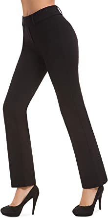 Womens Girls Stretchy Office Skinny Trousers No Pockets Grey 6-10
