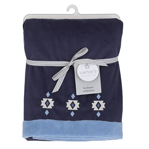 Carters Carters - Be Brave - Appliqued Baby Blanket, Navy, Light Blue, White
