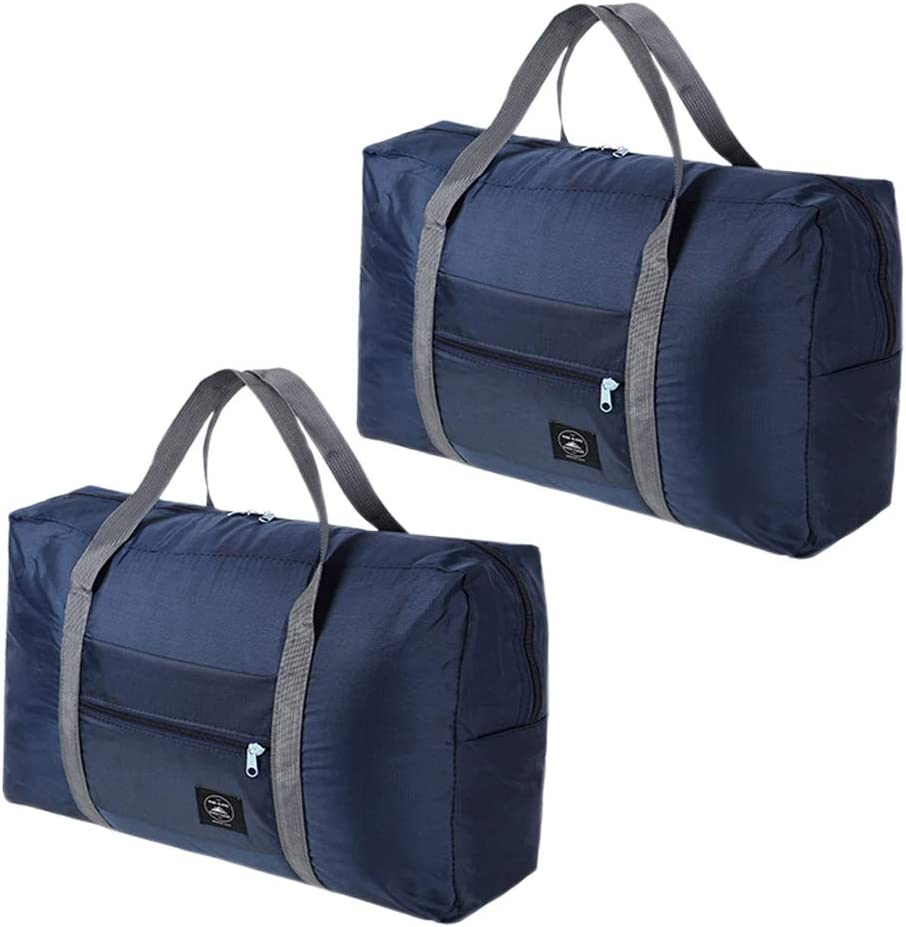 2 Pcs Foldable Travel Duffel Bag Folding Travel Bags Waterproof Travel Luggage Bag Lightweight Sports Luggage Bag for Sports Gym Vacation