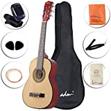 ADM Beginner Classical Guitar 30 Inch Steel Strings Natural Bundle Kit with Gig Bag, Tuner, Strings, Strap, and Picks
