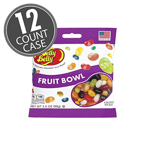 Jelly Belly Fruit Bowl Jelly Beans, Assorted Fruit Flavors, 3.5-oz, 12 Pack