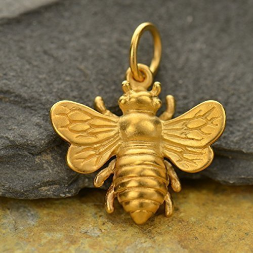 Gold Bumble Bee Charm - 7