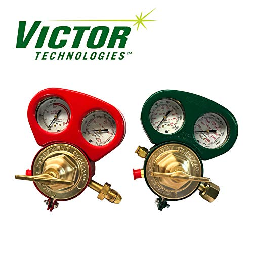(Set of Heavy Duty Victor SR450D & SR460A Regulators w/Metal Gauge Guards)