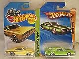 Hot Wheels '71 Dodge Charger & 1974 Brazilian Dodge Charger Die Cast 1/64 Scale 2 Car Bundle!