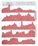 Stampers Anonymous Tim Holtz Cling Rubber Cityscapes Stamp Set, 7'' x 8.5''