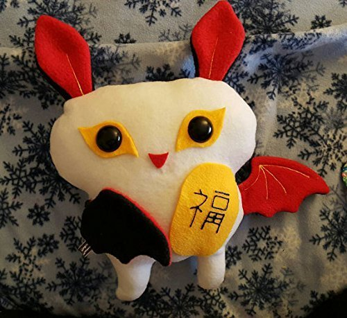 Lucky Bat plushie with good fortune totem