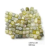 2.00 Ct Natural Rough Loose diamond Yellow Color Cube Diamonds Lot 1.00 to 1.50 MM