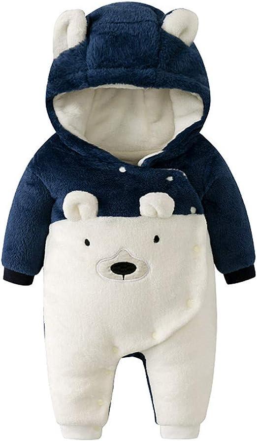 Kigurumi - Mono de invierno unisex con capucha para bebé recién ...