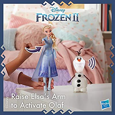 Disney Frozen Talk and Glow Olaf and Elsa Dolls, Remote Control Elsa Activates Talking, Dancing, Glowing Olaf, Inspired by Disney's Frozen 2 Movie - Toy For Kids Ages 3 and Up: Toys & Games