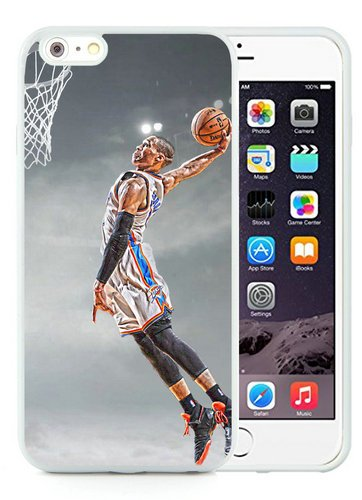 Iphone 6 Plus TPU Case,Okc Thunder Russell Westbrook White Shell Case for Iphone 6S Plus 5.5 Inches