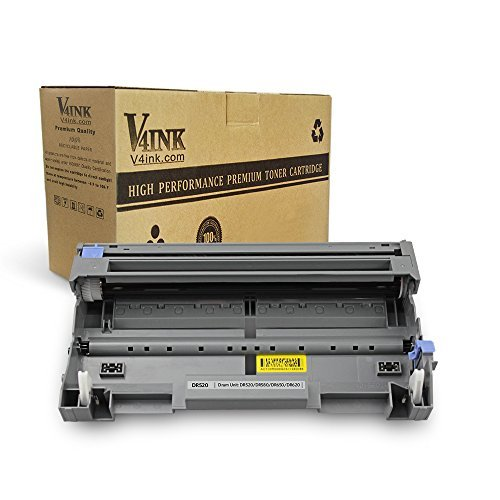 (V4INK Compatible Toner Cartridge Replacement for Brother DR520 DR620 (Drum Unit, 1-Pack), for use in Brother HL-5370DW HL-5340D DCP-8065DN HL-5240 HL-5250DN, DCP-8065DN DCP-8060 MFC-8890DW MFC-8460N)