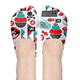 XYMNZGS Fancy Pirates No Show Socks Women Ankle Socks Running Socks For Yoga