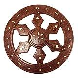 Wooden Key Holder Wheel Shape, wooden key holder, key organizer wall, key organizer, decorative key holder for Home & Office 8 Inch [Handmade]