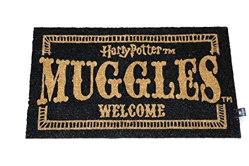 Multicolor /única Multicolor Harry Potter Felpudo Muggles Welcome Doormat Official Merchandising Referencia DD Textiles del hogar Unisex Adulto