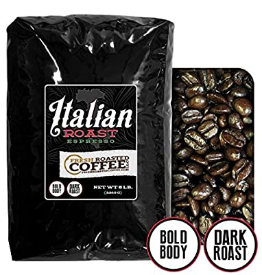 Italian Roast Espresso Coffee, Whole Bean, Fresh Roasted Coffee LLC by Fresh Roasted Coffee LLC.