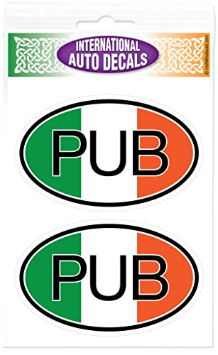 Irish Tricolor PUB Oval Decal Vinyl Window ()