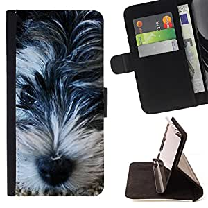 For Samsung Galaxy S3 Mini I8190Samsung Galaxy S3 Mini I8190 Miniature Schnauzer Terrier Basset Leather Foilo Wallet Cover Case with Magnetic Closure