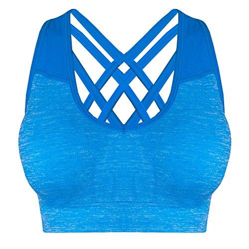 Libella - Sujetador deportivo - Básico - para mujer Azul